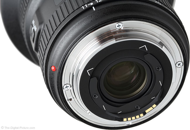 Canon EF 11-24mm f/4L USM Lens Rear View
