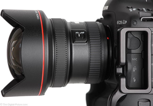 Canon EF 11-24mm f/4L USM Lens Side View Close-Up
