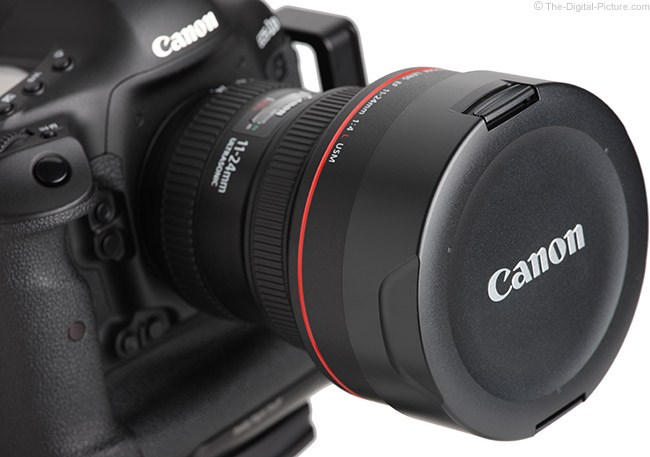 Canon EF 11-24mm f/4L USM Lens Cap on Lens
