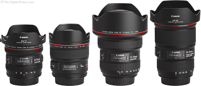 Canon Ultra-Wide Angle Lenses