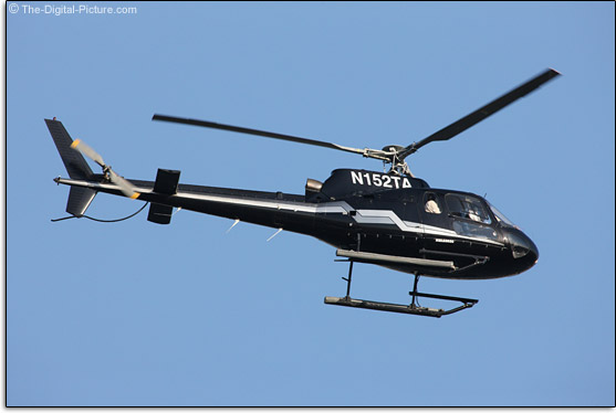 The Canon EF 1200mm f/5.6L USM Lens Takes a Helicopter