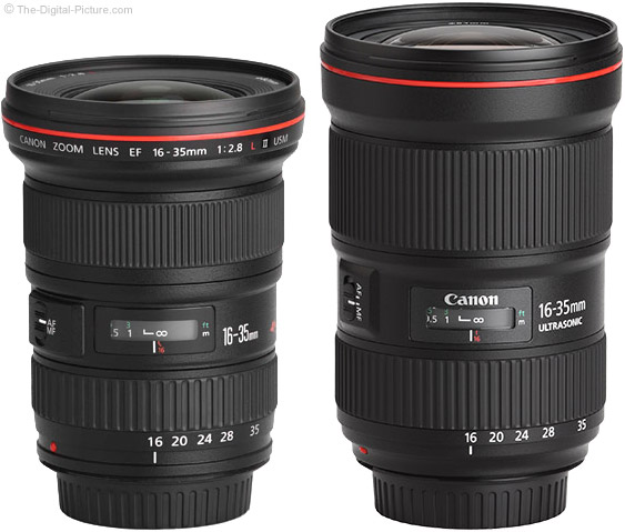 More Canon 16-35mm f/2.8 L III and 24-105mm f/4L IS II Lens Info Including MTF Comparisons