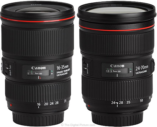 Canon EF 16-35mm f/4L IS USM Lens Compared to Canon EF 24-70mm f/2.8L II USM Lens