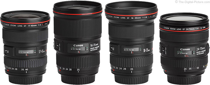 Canon EF 16-35mm f/4 L IS USM Lens Compared to Similar Lenses