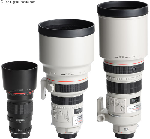 Canon EF 200mm f/1.8 L USM Lens Comparison With Hoods