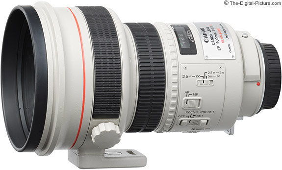 Canon EF 200mm f/1.8 L USM Lens side view