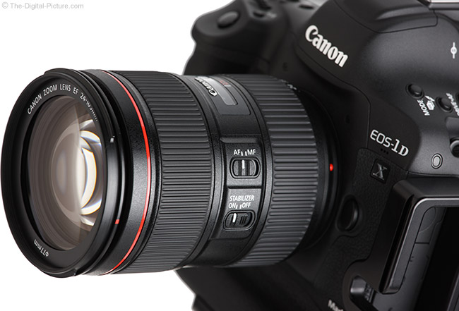 Canon EF 24-105mm f/4L IS II USM Lens Angle View