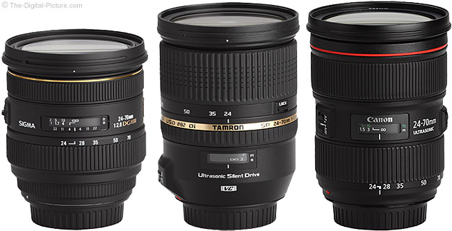Sigma 24-70mm f/2.8 EX DG HSM Lens and Similar 24-70mm Lenses