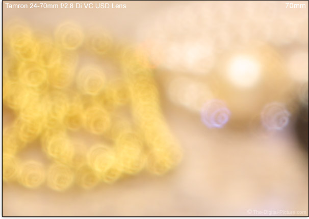 Tamron 24-70mm f/2.8 Di VC USD Lens Bokeh Comparison