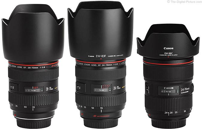 Comparison: Canon EF 28-70mm f/2.8L USM Lens, Canon EF 24-70mm f/2.8L USM Lens Canon EF 24-70mm f/2.8L II USM Lens