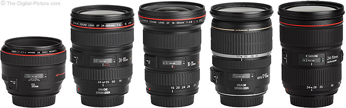Canon EF 24-70mm f/2.8 L II USM Lens and similar Canon L Lenses