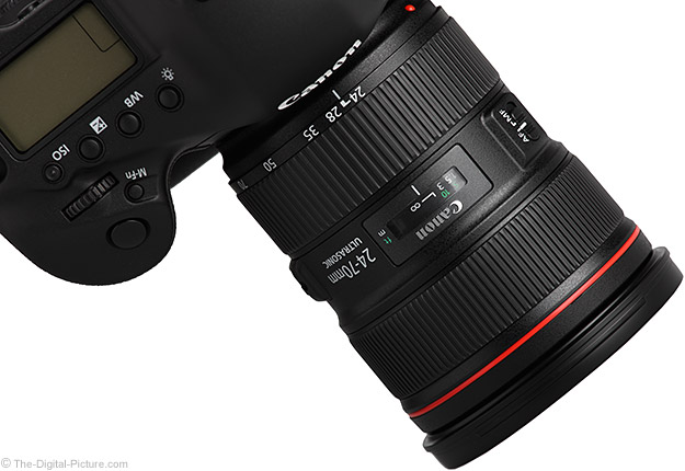 24-70mm f/2.8 L II on Camera - Angle View