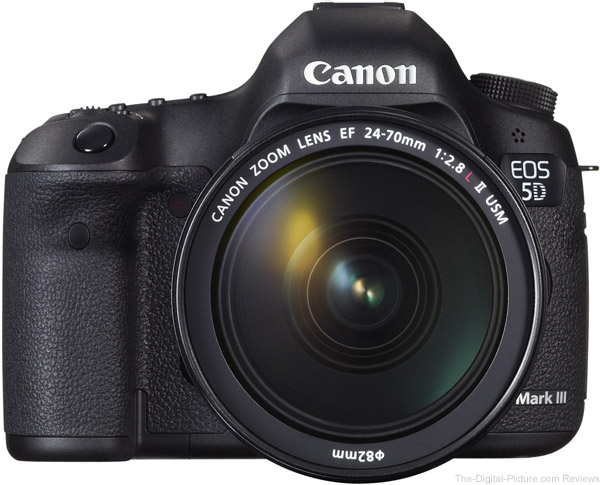 Canon EF 24-70mm f/2.8 L II USM Lens on Canon EOS 5D Mark III - Front