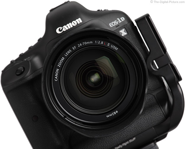 24-70 L II on Canon EOS 1D X DSLR - Front View