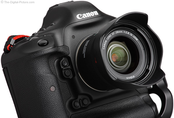 Canon EF 28mm f/2.8 IS USM Lens on Canon EOS 1D X - Angle
