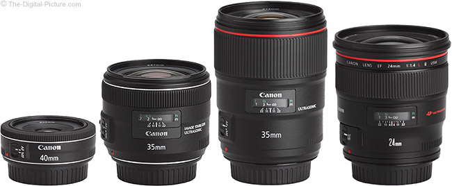 Canon EF 35mm f/1.4L II USM Lens Compared to Similar Lenses