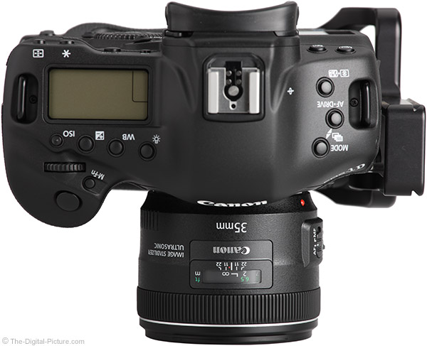 On Canon EOS 1D X - Top View