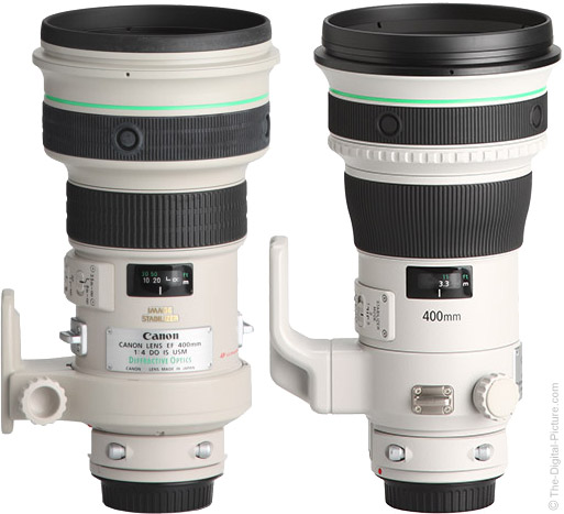 Canon EF 400mm f/4 DO IS II USM Lens Compared to Version I