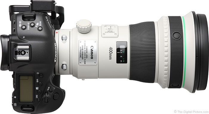 Canon EF 400mm f/4 DO IS II USM Lens Top View