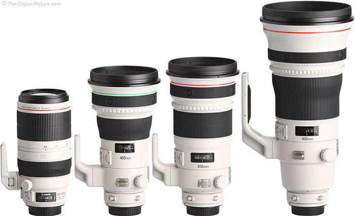 Canon EF 400mm f/4 DO IS II USM Lens Compared to Similar Lenses
