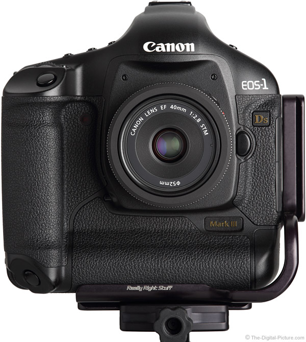 Canon 40mm STM Lens Front View