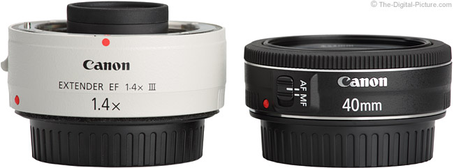 40mm f/2.8 Lens Compared to 1.4x Extender