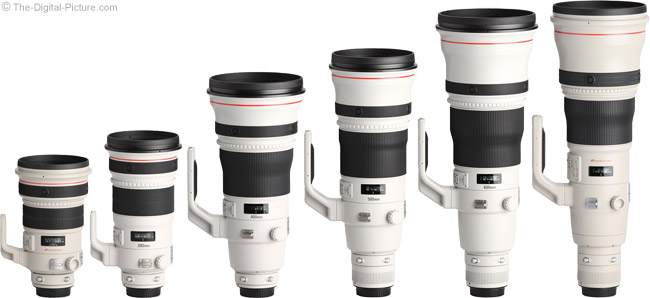 500 f/4 L II IS Compared to other Canon Super Telephoto Lenses