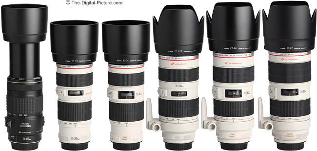 Canon Telephoto Zoom Lens Comparison With Hoods