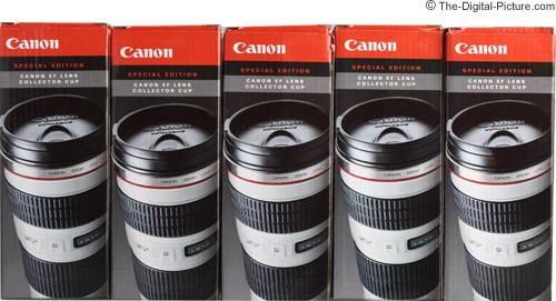 Canon EF 70-200mm f/4.0 L USM Lens Mug Boxes