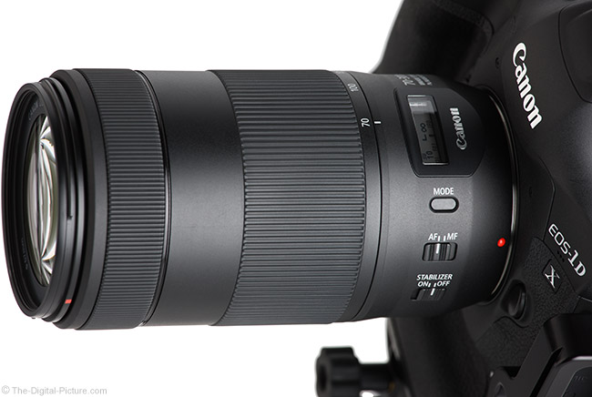 Canon EF 70-300mm f/4-5.6 IS II USM Lens Angle View