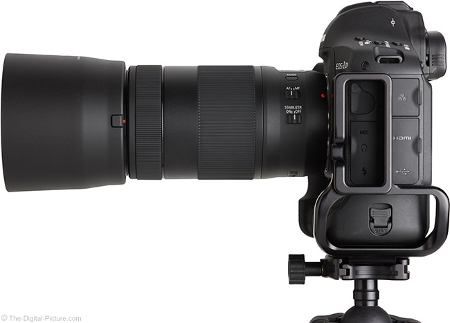 Canon EF 70-300mm f/4-5.6 IS II USM Lens Side View with Hood