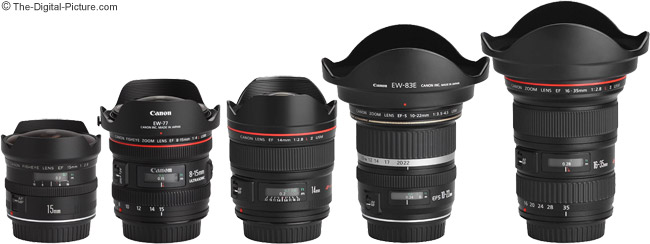 Canon EF 8-15mm f/4 L USM Fisheye Lens Compared to Similar Lenses with Hoods