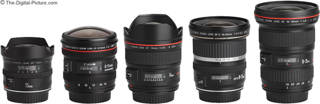 Canon EF 8-15mm f/4L USM Fisheye Lens Compared to Similar Lenses