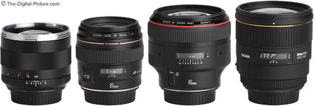 Canon EF 85mm f/1.8 USM Lens Compared to Similar 85mm Lenses