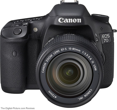 7D Front with Lenses Compared