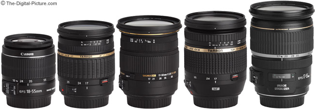 Tamron 17-50mm f/2.8 XR Di II Lens Compared to Similar 17-50mm Lenses