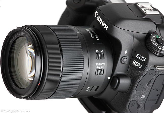 Canon EF-S 18-135mm IS USM Lens at Angle