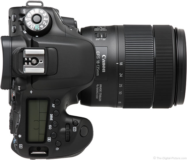 Canon EF-S 18-135mm IS USM Lens Top View