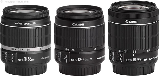 Comparison of Canon EF-S 18-55mm IS Lenses