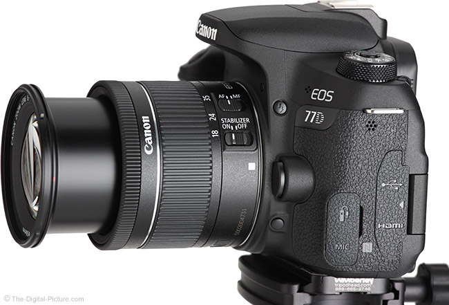 Canon EF-S 18-55mm f/4-5.6 IS STM Lens Angle Extended View