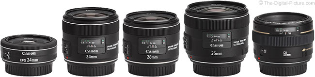 Canon EF-S 24mm f/2.8 STM Lens Compared to Similar Lenses