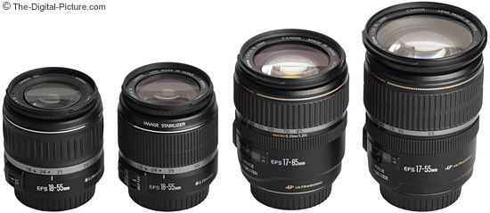 Canon EF-S Zoom Lens Comparison