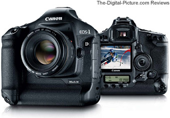 Canon EOS-1D Mark III Digital SLR Camera - Front and Back Views