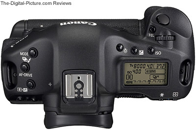Canon EOS-1D Mark III Digital SLR Camera - Top View