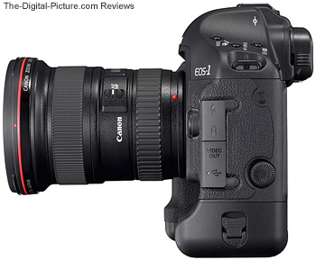 Canon EOS 1D Mark III Digital SLR Camera with Canon EF 16-35mm f/2.8 L II USM Lens - Side View