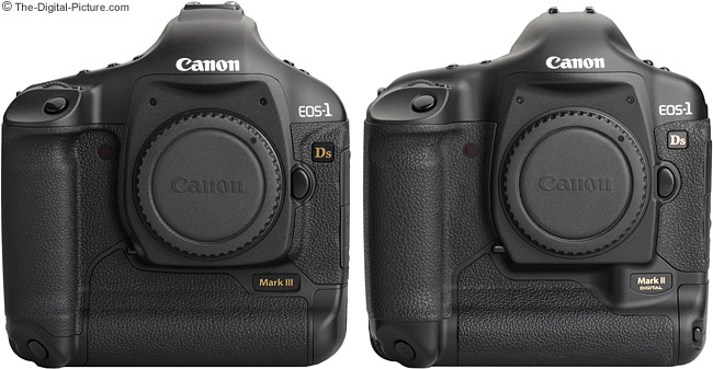 1Ds III and 1Ds II comparison - Front View