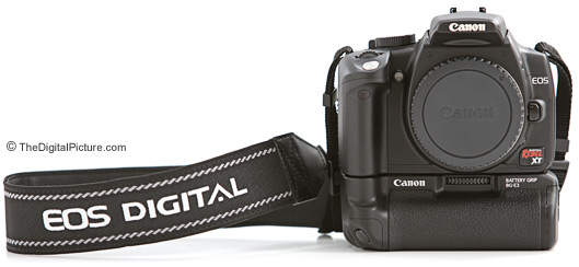 Canon EOS 350D Digital Rebel XT SLR Camera and BG-E3 Battery Grip