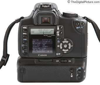 Canon EOS 350D Digital Rebel XT SLR Camera Back View