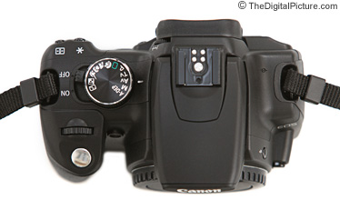 Canon EOS Digital Rebel XT / 350D SLR Camera - Top View