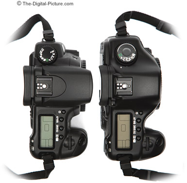 Canon EOS 20D / 5D Size Comparison - Top
